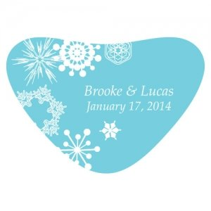 Winter Finery Heart Container Sticker (9 Colors) image