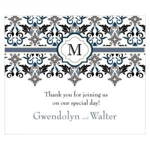 Lavish Monogram Rectangular Stickers (7 Colors) image