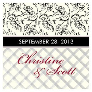 Eclectic Patterns Square Favor Tag (Set of 20 - 6 Colors) image