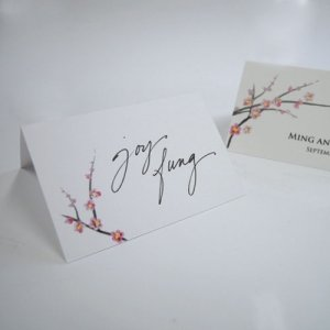 Cherry Blossom Tented Place Cards (Set of 6) image