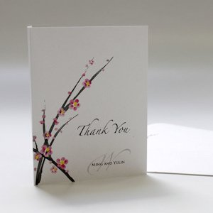 Cherry Blossom Thank You Cards (Set of 6) image