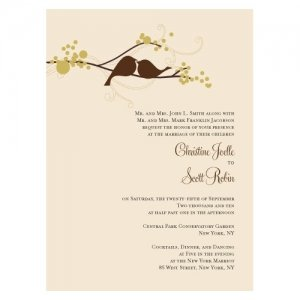 Love Birds Wedding Invitations (Set of 4 - 4 Colors) image