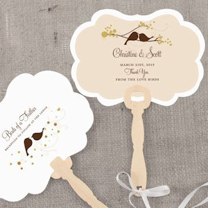 Love Bird Personalized Hand Fan (4 Colors) image