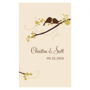 Love Birds Playing Card Stickers (4 Colors) image