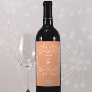 Forget Me Not Personalized Wine Label (9 Colors) image