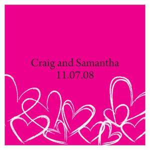Contemporary Hearts Favor Tag (Set of 20) image