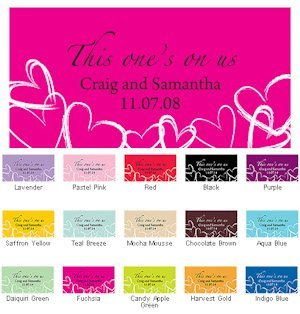 Contemporary Hearts Small Drink Ticket Sets image