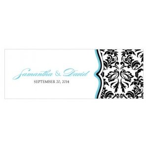Love Bird Damask Small Oblong Tag (Set of 20) image