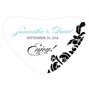 Damask Heart Container Sticker (18 Colors) image