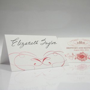 French Whimsy Tented Wedding Place Cards image