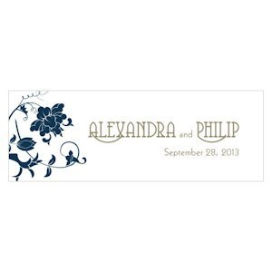 Floral Orchestra Custom Small Rectangular Tag image