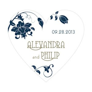 Floral Orchestra Heart Shaped Sticker (15 Colors) image