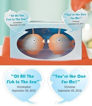 'Of All The Fish In The Sea' Personalized Bubble Stickers image