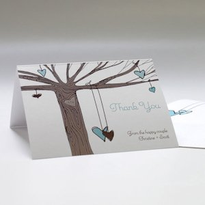 Heart Strings Thank You Card (Set of 6 - 3 Colors) image