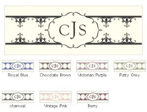 Fleur De Lis Small Rectangular Tags (Set of 20) image