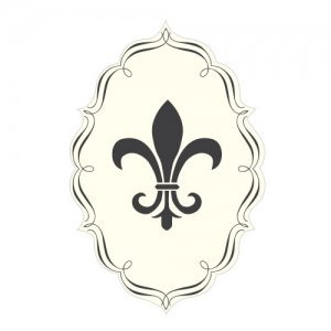 Fleur De Lis Die Cut Sticker (7 Colors) image