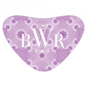 Floral Pattern Heart Container Sticker (2 Colors) image