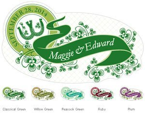 Luck of the Irish Small Window Cling (5 Colors) image