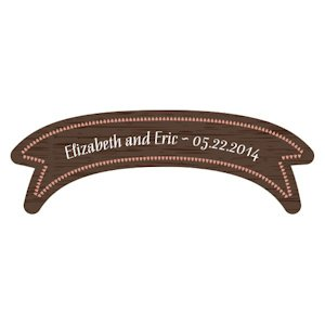 Personalized Wood Banner Sticker image