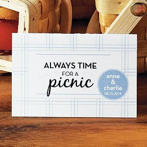 Personalized Picnic Tent Card (Set of 6 - 6 Color Options) image