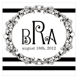 Rococo Monogram Tags for Wedding Favors (Set of 20) image