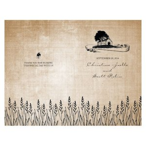 Rustic Country Wedding Program Paper (4 Colors) image