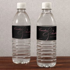 Classic Orchid Wedding Water Bottle Labels (10) image
