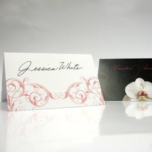 Classic Orchid Wedding Place Cards (Set of 6) image