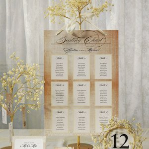 Vintage Lace Seating Chart (7 Colors) image