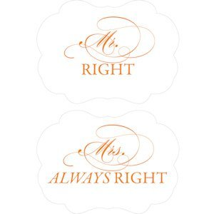 Cheeky Mr. Right & Mrs. Always Right Paper Chair Markers image