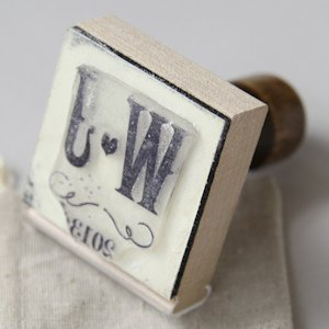 Personalized Vineyard Rubber Stamp image