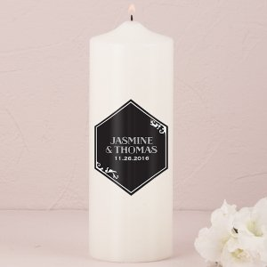 Black And Gold Opulence Unity Candle (2 Colors) image