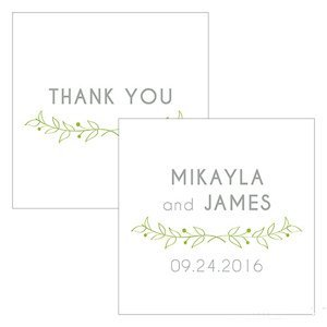 Woodland Pretty Personalized Square Favor Tag (Set of 2) image