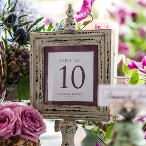 Contemporary Vintage Square Table Numbers image