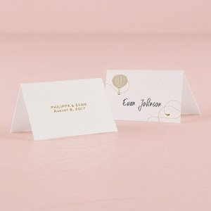 Vintage Travel Place Card With Fold (Set of 6) image