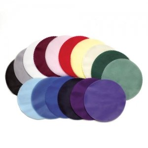 Scalloped Edge Tulle Circles (Set of 50 - 12 Colors) image