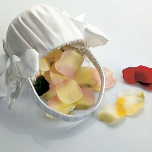 Silk Flower Girl Rose Petals (8 color choices) image