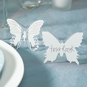 Laser Expressions Butterfly Folded Place Card - Set of 12 image