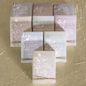 Antique Book Favor Box Kit (Set of 8) image