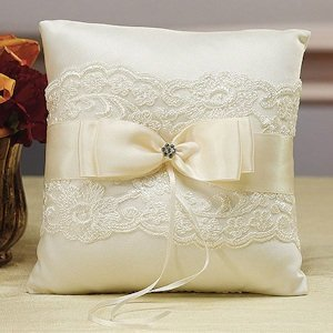 Beverly Clark French Lace Ring Bearer Pillow image