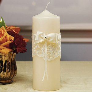 Beverly Clark French Lace Unity Candle image