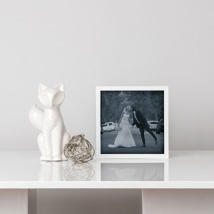 Shadow Box Photo Frame - White or Black image