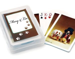 Wedding Hounds Playing Card Favors image
