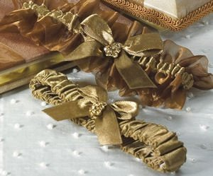 Elegant Bronze Two Piece Garter Set image