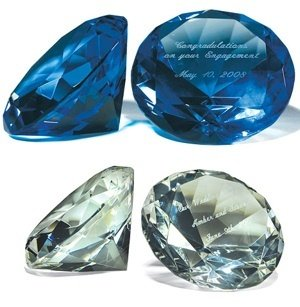 Diamond Shaped Paper Weight - Clear image