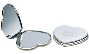 Classic Heart-Shaped Compact Mirror image