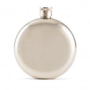 Polished Round Stainless Hip Flask image