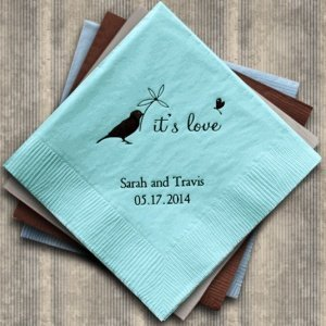 Whimsical Garden Personalized Napkins (25 Colors) image