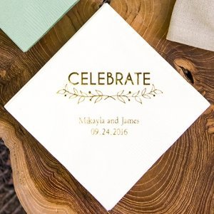 Woodland Pretty Personalized Napkins (25 Colors) image
