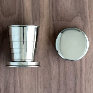 Stainless Steel Collapsing Shot Glass with Lid image